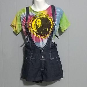 Encore denim Jean overall shorts Size S
